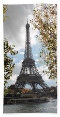 Eiffel From Avenue De New York Beach Towel