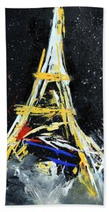 Eiffel Beach Towel