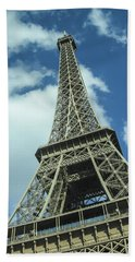 Beach Towel featuring the photograph Eiffel Tower by Allen Sheffield