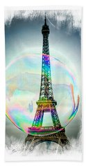 Eiffel Tower Bubble Beach Towel