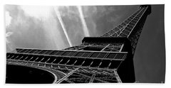 Eiffel Tower Beach Towel by M G Whittingham