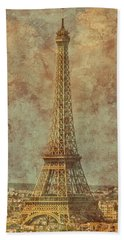 Paris, France - Eiffel Tower Beach Towel