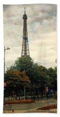 Beach Sheet featuring the photograph Eiffel Tower Paris by Lynn Bolt