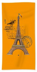 Eiffel Tower T Shirt Design Beach Towel