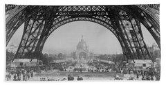 Eiffel Tower - World's Fair 1889 Beach Towel
