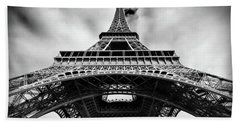 Beach Towel featuring the photograph Eiffelt Tower From Below - Paris by Barry O Carroll