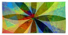 Beach Towel featuring the painting Eight Petals by Michelle Calkins