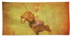 Eight Seconds Rodeo Bull Riding Beach Towel