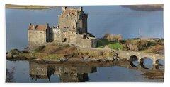 Eilean Donan Castle Reflections Beach Towel