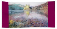 Beach Towel featuring the painting Eilean Donan Castle  by Richard James Digance