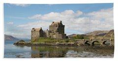 Beach Towel featuring the photograph Eilean Donan Castle - Scotland by Karen Van Der Zijden