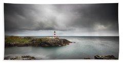 Beach Sheet featuring the photograph Eilean Glas Lighthouse, Scalpay by Grant Glendinning