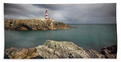 Eilean Glas Lighthouse, Western Isles. Beach Towel
