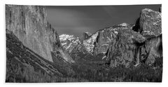 El Capitan And Half Dome Beach Towel