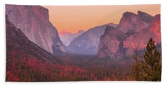 El Capitan Golden Hour Beach Towel