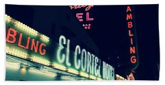 El Cortez Hotel At Night Beach Towel
