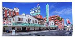El Cortez Hotel On Fremont Street 2.5 To 1 Ratio Beach Towel