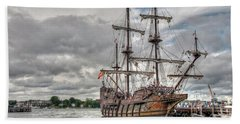 El Galeon Andalucia In Portsmouth Beach Towel