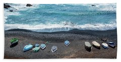 El Golfo Beach Sheet by Delphimages Photo Creations
