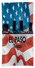 El Paso Tx American Flag Vertical Beach Towel