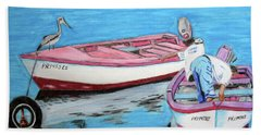 El Pescador De Guanica Beach Sheet by Luis F Rodriguez