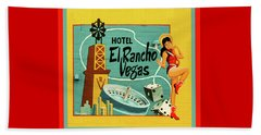 Beach Towel featuring the photograph El Rancho by Jeff Burgess