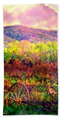 El Valle June Hay Days Nostalgia II Beach Towel by Anastasia Savage Ealy