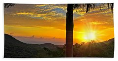 El Yunque Mountain Sunrise Beach Towel