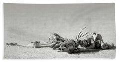 Eland Skeleton In Desert Beach Towel