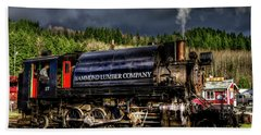 Elbe Steam Engine 17 Hdr 2  Beach Towel