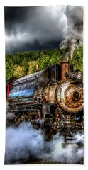 Beach Towel featuring the photograph Elbe Steam Engine #17 Hdr by Rob Green