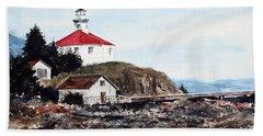 Eldred Rock Lighthouse Beach Towel