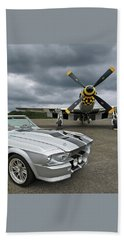 Eleanor Mustang With P51 Beach Towel