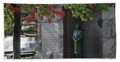 Eleanor's Alcove At The Fdr Memorial In Washington Dc Beach Towel