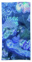 Electric Coral Beach Towel