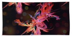 Electric Flowers Beach Towel