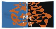 Electric Guitar In Blue Beach Sheet by David Bridburg