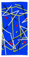 Electric Midnight Beach Towel