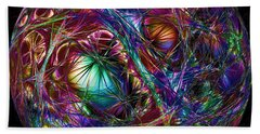 Electric Neon Abstract Beach Sheet by John Haldane