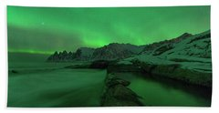 Beach Towel featuring the photograph Electric Night by Alex Lapidus
