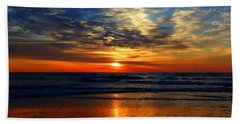 Electric Golden Ocean Sunrise Beach Towel