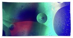 Beach Towel featuring the photograph Electric Oil Droplets Number One by John Williams