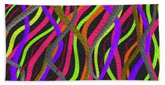 Electric Squiggles Beach Towel