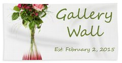 Beach Towel featuring the photograph Elegance-the Gallery Wall Logo by Wendy Wilton