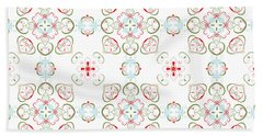 Elegant Christmas #02 Beach Towel