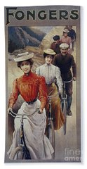 Elegant Fongers Vintage Stylish Cycle Poster Beach Sheet