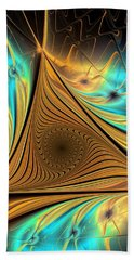 Beach Towel featuring the digital art Element by Anastasiya Malakhova
