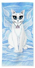 Elemental Air Fairy Cat Beach Towel