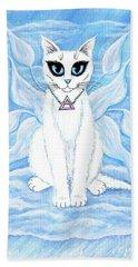 Elemental Air Fairy Cat Beach Towel