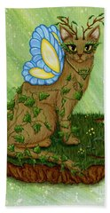 Elemental Earth Fairy Cat Beach Towel
